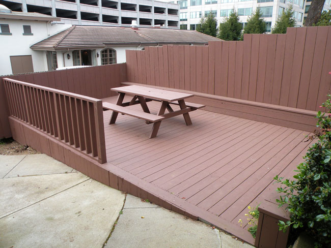 Outdoor Deck Facing Funeral Home